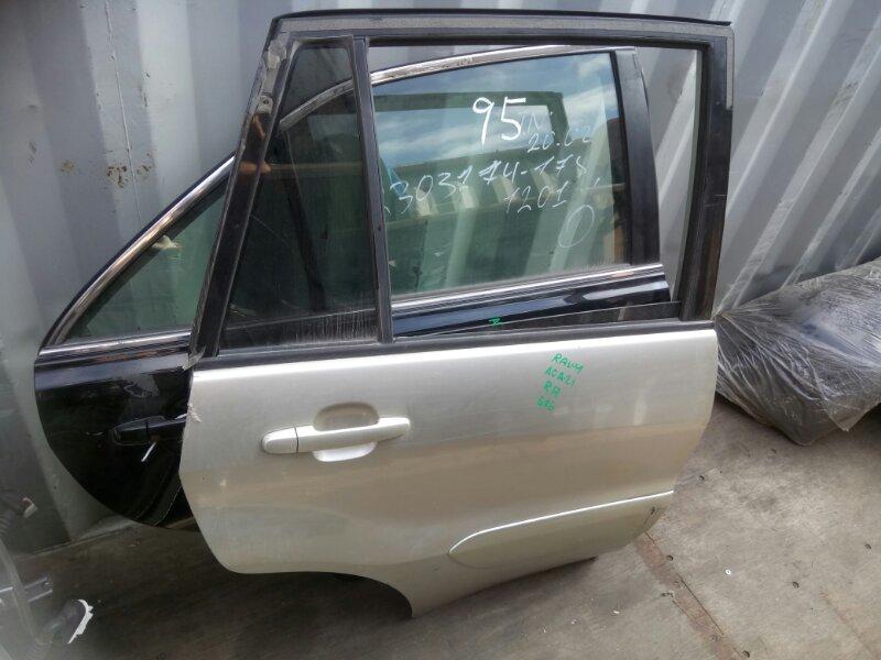 Дверь боковая Toyota Rav4 ACA21L 2003 задняя правая