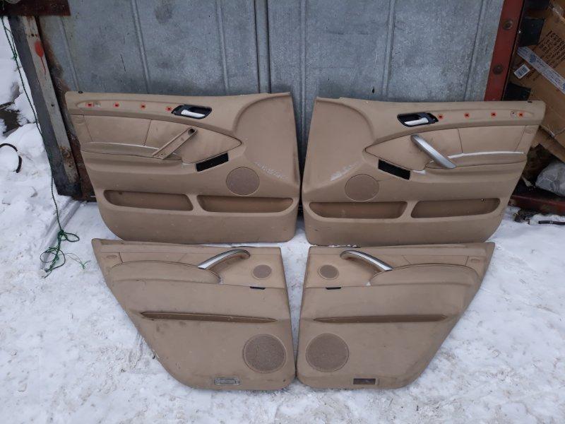 Обшивка двери Bmw X5-Series M54B30 2003 передняя левая