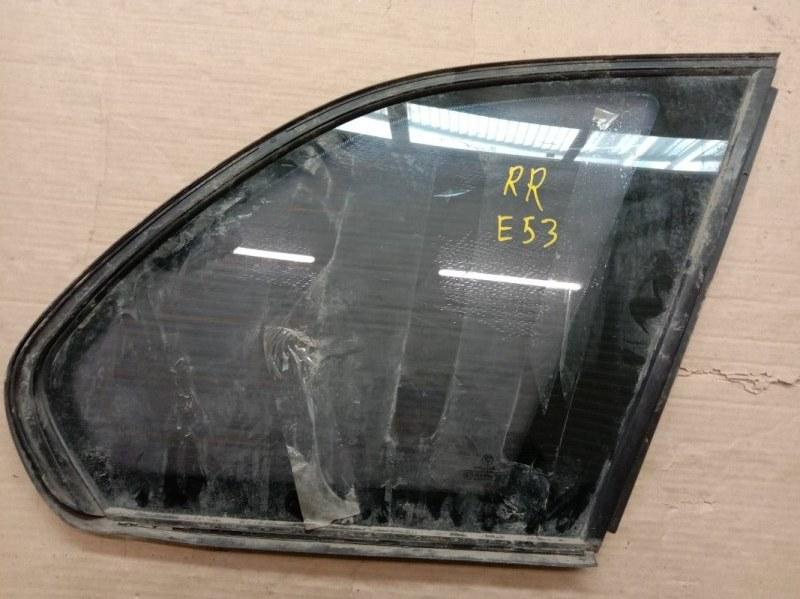 Стекло собачника Bmw X5-Series E53 M54B30 2001 заднее правое