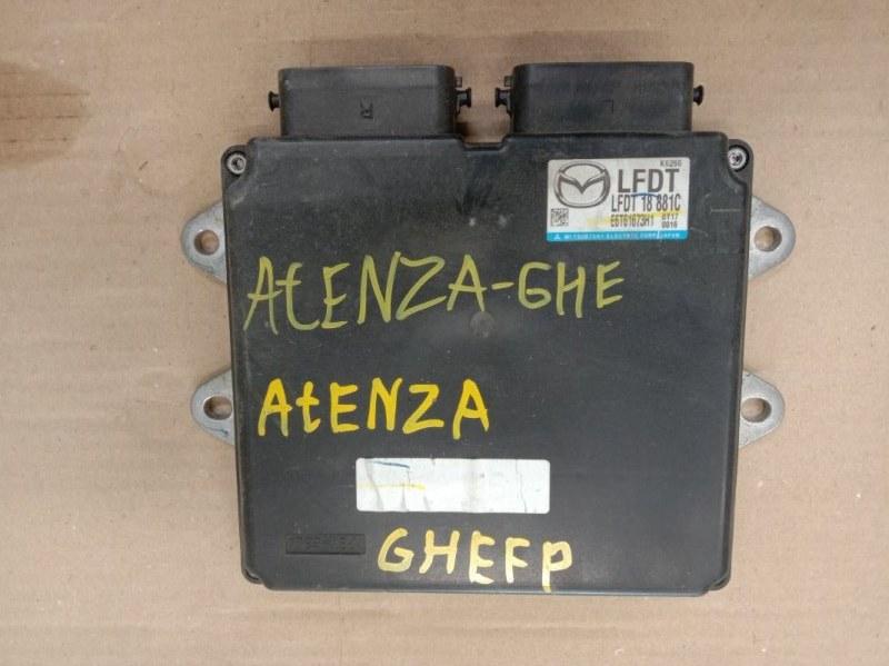 Блок управления двс Mazda Atenza GHEFP LF-VD 2011