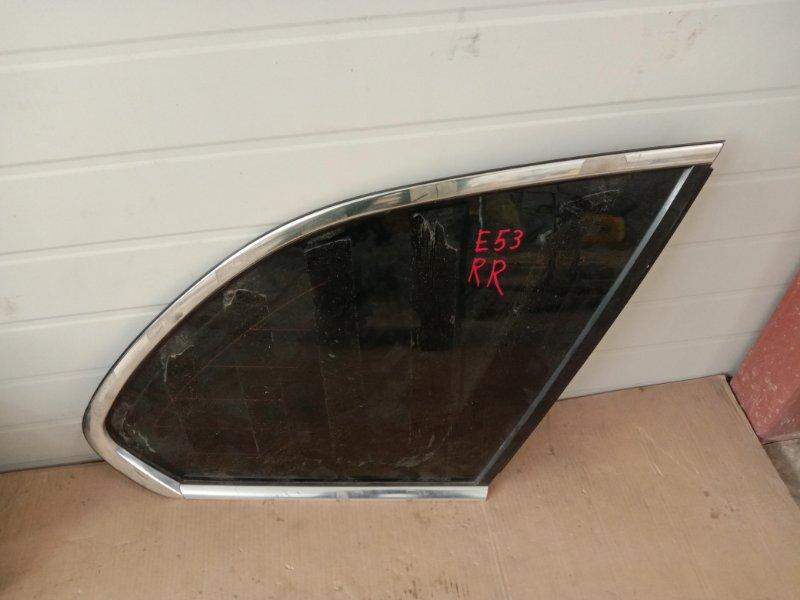 Стекло собачника Bmw X5-Series E53 M62B44 2001 правое