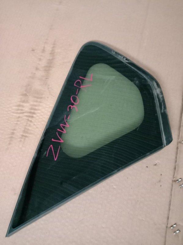 Стекло собачника Toyota Prius ZVW30 2ZR-FXE 2010 заднее левое