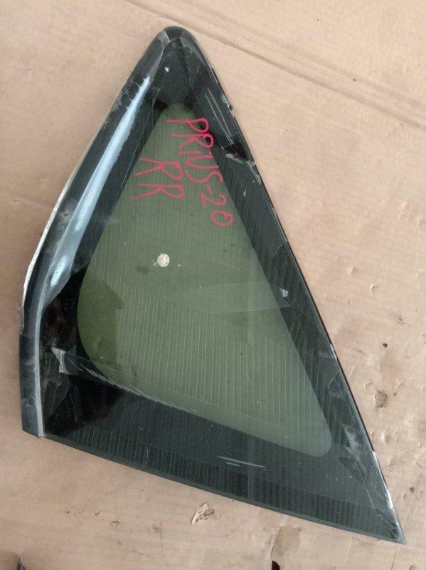 Стекло собачника Toyota Prius NHW20 1NZ-FXE 2005 заднее правое