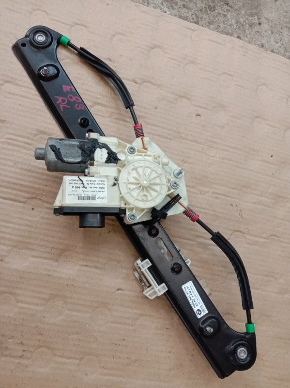Стеклоподъемник Bmw X3 - Series E83 M54B25 2003 задний левый