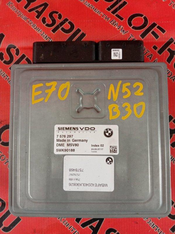 Блок управления двс Bmw X5-Series E70 N52B30 2007