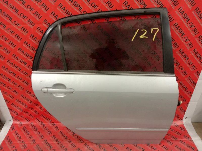 Дверь боковая Toyota Corolla Runx ZZE122 1ZZ-FE 2004 задняя правая