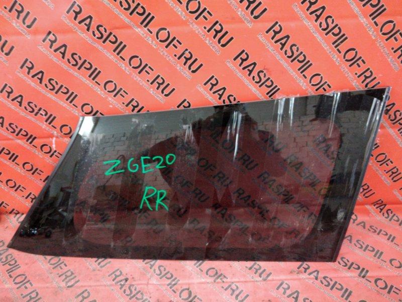 Стекло собачника Toyota Wish ZGE20 2ZR-FAE 2010 заднее правое