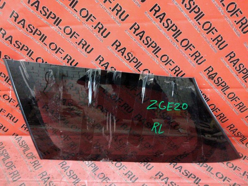 Стекло собачника Toyota Wish ZGE20 2ZR-FAE 2010 заднее левое