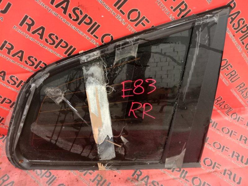 Стекло собачника Bmw X3 - Series E83 N52B25 2008 заднее правое