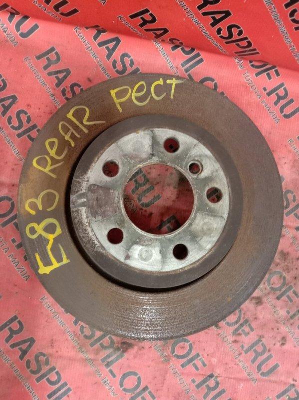 Диск тормозной Bmw X3 - Series E83 N52B25 2008 задний