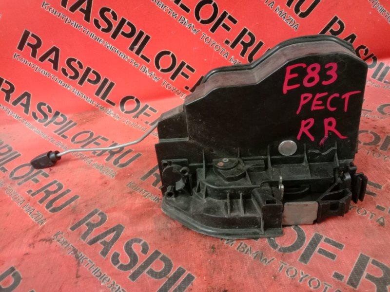 Замок дверной Bmw X3 - Series E83 N52B25 2008 задний правый