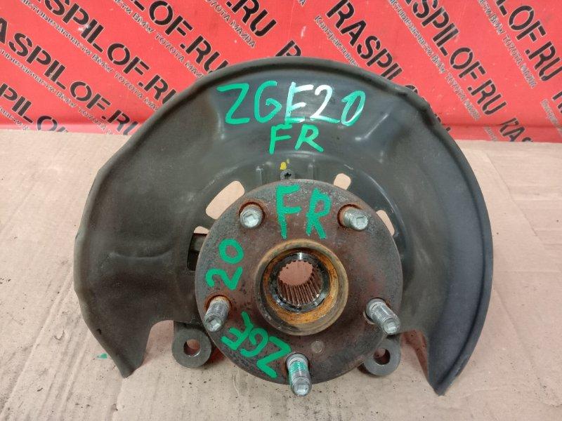 Ступица Toyota Wish ZGE20 2ZR-FAE 2009 передняя правая