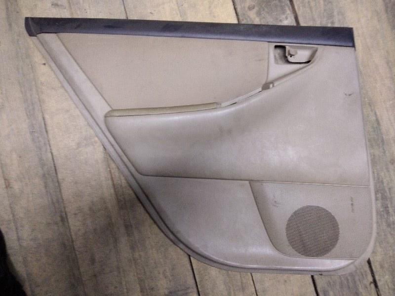 Обшивка двери Toyota Corolla Runx ZZE122 1ZZ-FE 2003 задняя левая