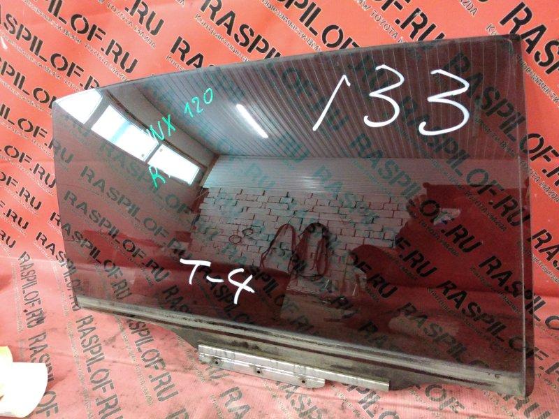 Стекло боковое Toyota Corolla Runx ZZE123 2ZZ-GE 2001 заднее правое