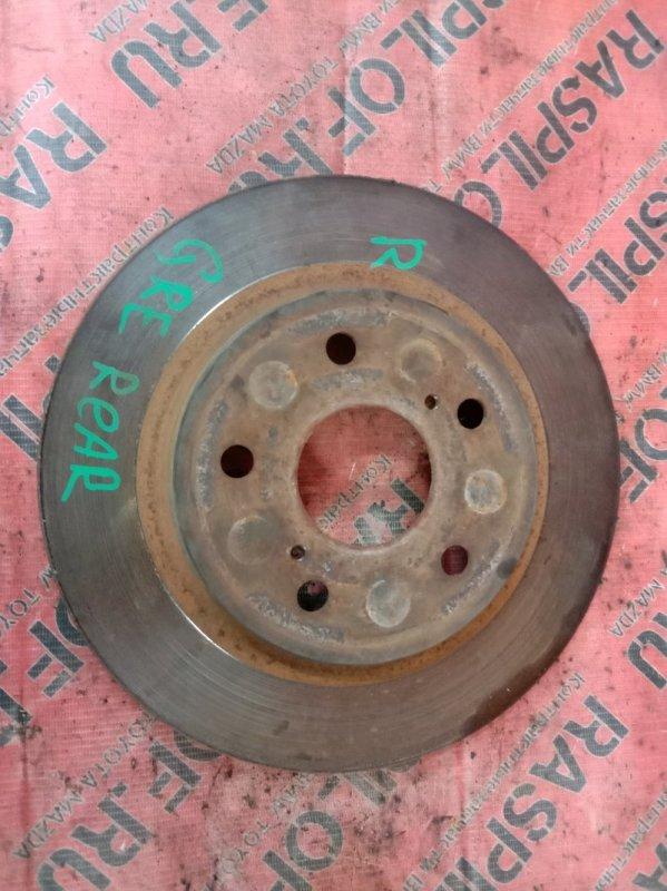 Диск тормозной Toyota Blade GRE156 2GR-FE 2007 задний