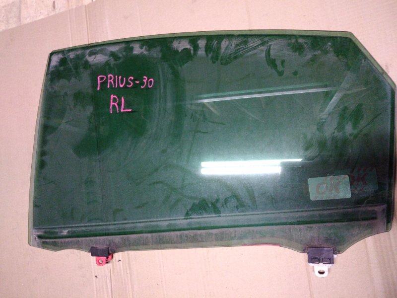 Стекло боковое Toyota Prius ZVW30 2ZR-FXE 2010 заднее левое