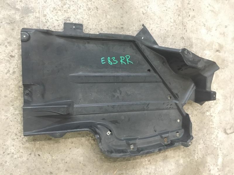 Пластиковая защита Bmw X3 - Series E83 M54B30 2005 задняя правая