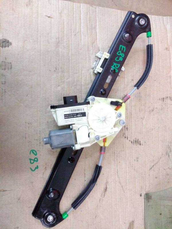 Стеклоподъемник Bmw X3 - Series E83 M54B30 2005 задний правый