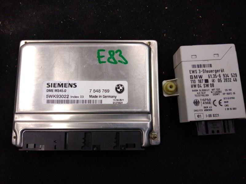 Блок управления двс Bmw X3 - Series E83 M54B30 2005