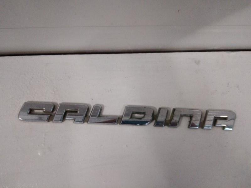 Эмблема Toyota Caldina ST215 3S-GE 2001 задняя
