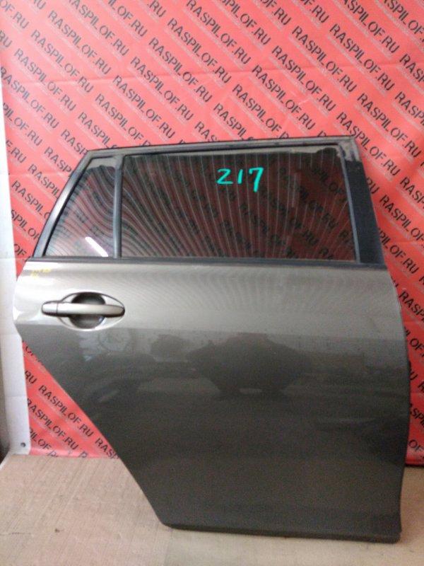 Дверь боковая Toyota Corolla Fielder ZRE144 2ZR-FE 2010 задняя правая