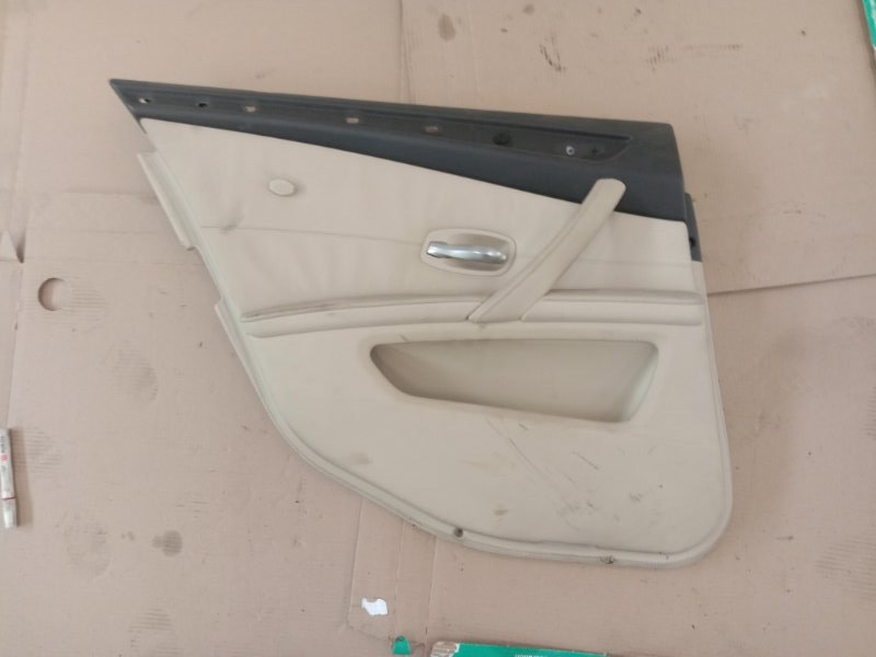 Обшивка двери Bmw 5-Series E60 N52B30 2008 задняя правая