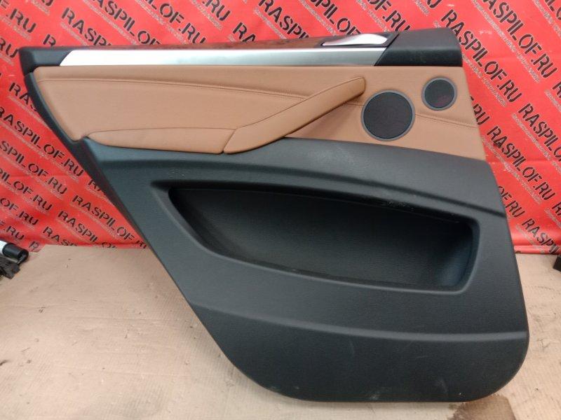 Обшивка двери Bmw X5 E70 N62B48 2008 задняя левая