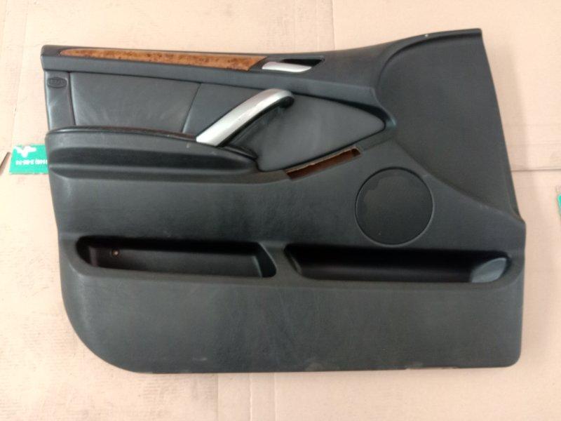 Обшивка двери Bmw X5 E53 M54B30 2002 передняя левая