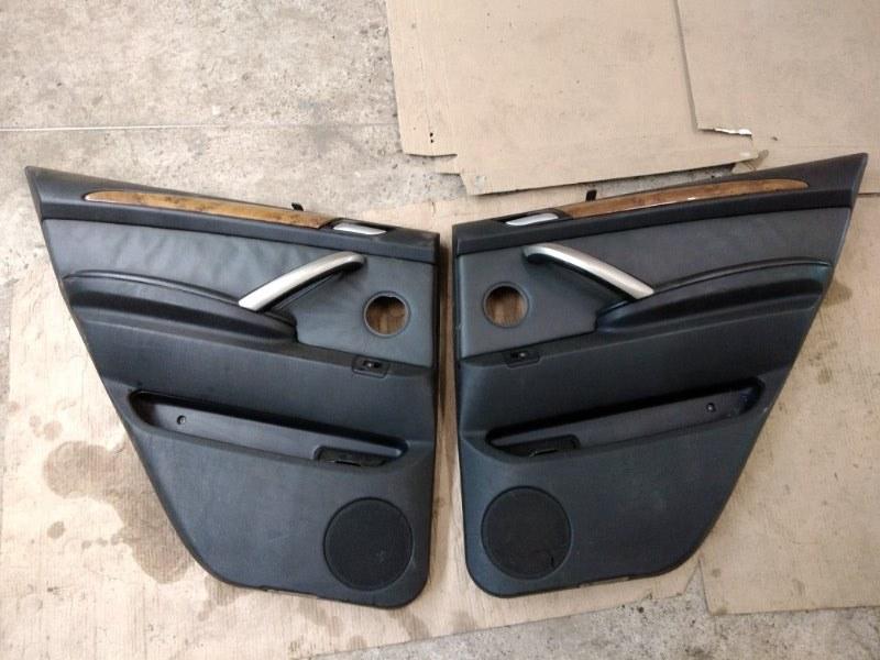 Обшивка двери Bmw X5 E53 M54B30 2002 задняя