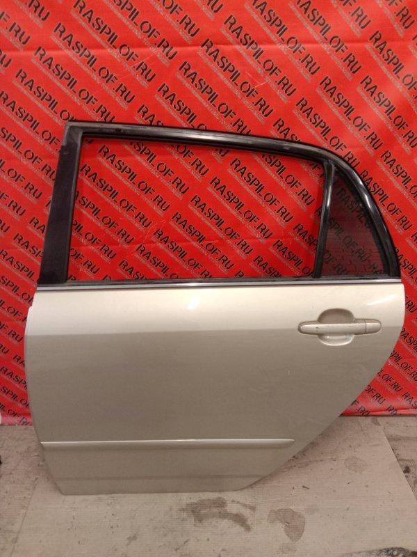 Дверь боковая Toyota Corolla Runx NZE121 1NZ-FE 2002 задняя левая