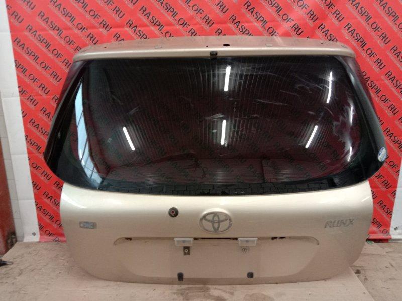 Дверь задняя багажника Toyota Corolla Runx NZE121 1NZ-FE 2002