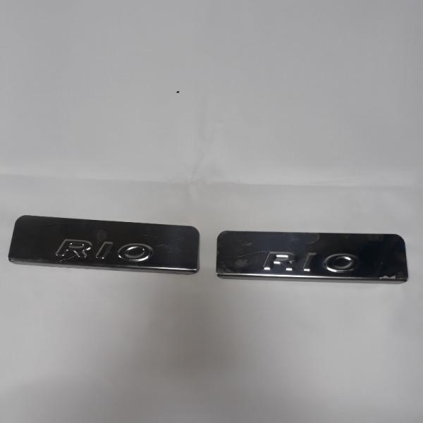 Накладка порога Kia Rio X-Line КРОСС-ХЭТЧБЕК G4FG 2017 задняя