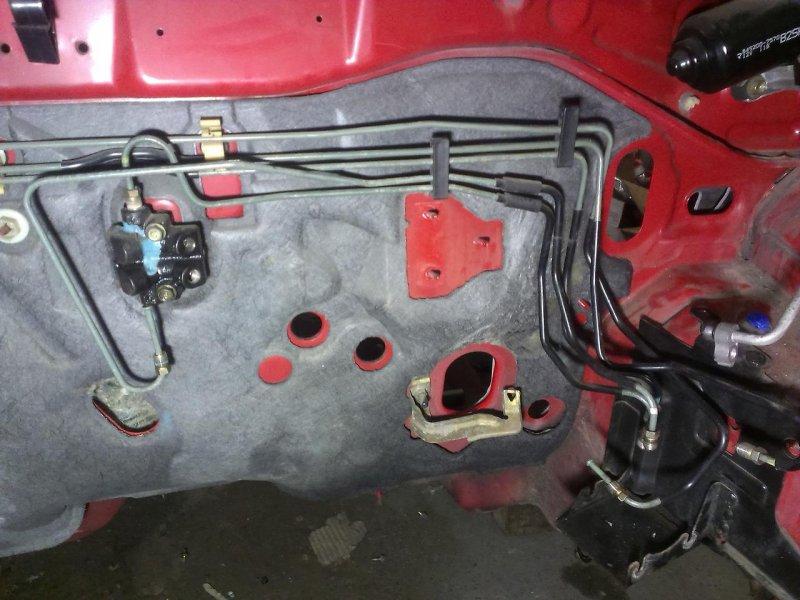 Трубка тормозная Mazda Familia BJEP нижняя