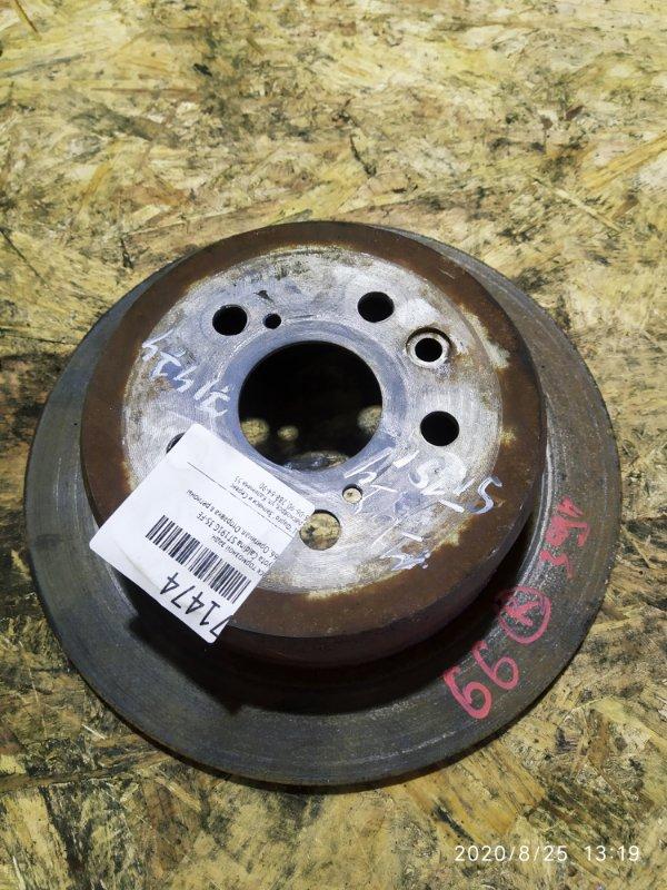 Диск тормозной Toyota Caldina ST191G 3S-FE задний