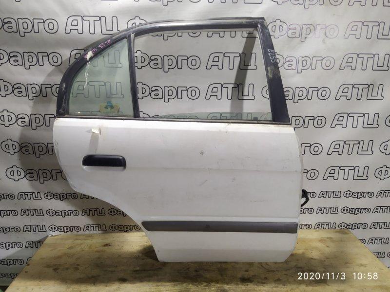 Дверь боковая Toyota Corsa EL55 5E-FE задняя правая