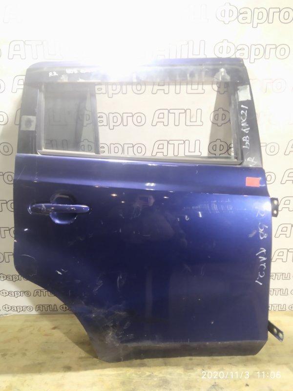 Дверь боковая Toyota Bb QNC20 K3-VE задняя правая