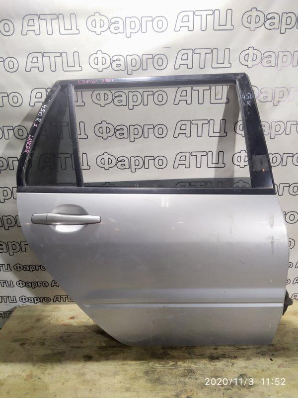 Дверь боковая Mitsubishi Lancer Cedia CS5W 4G93 задняя правая