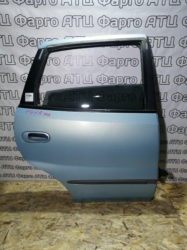 Дверь боковая Nissan Tino V10 QG18DE задняя правая