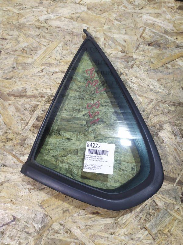 Форточка дверная Nissan Bluebird QU14 QG18DE задняя левая