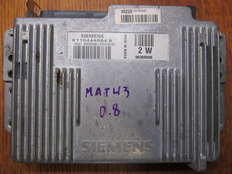 Эбу двс Daewoo Matiz 0.8 2007