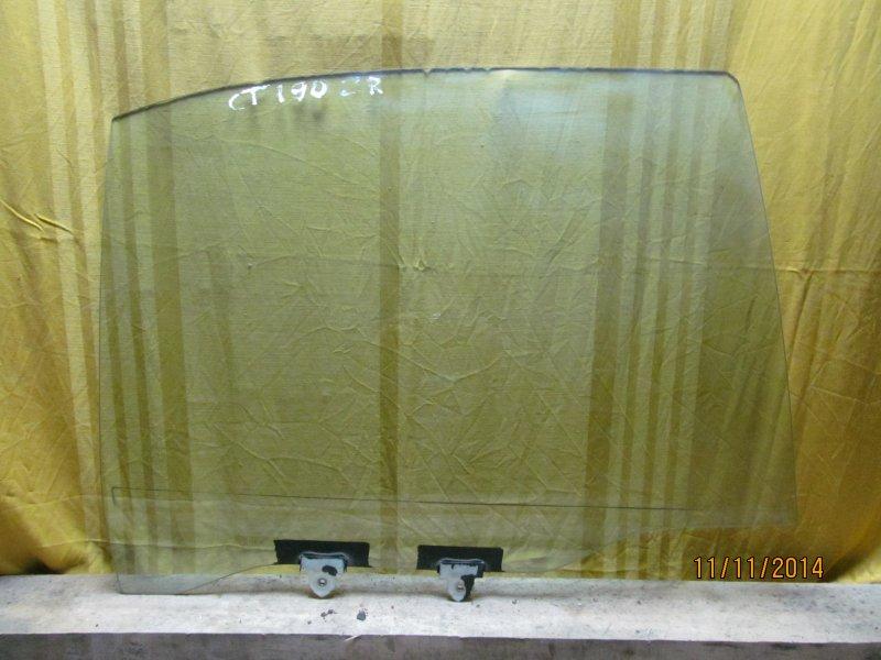 Стекло двери Toyota Corona 190 заднее правое