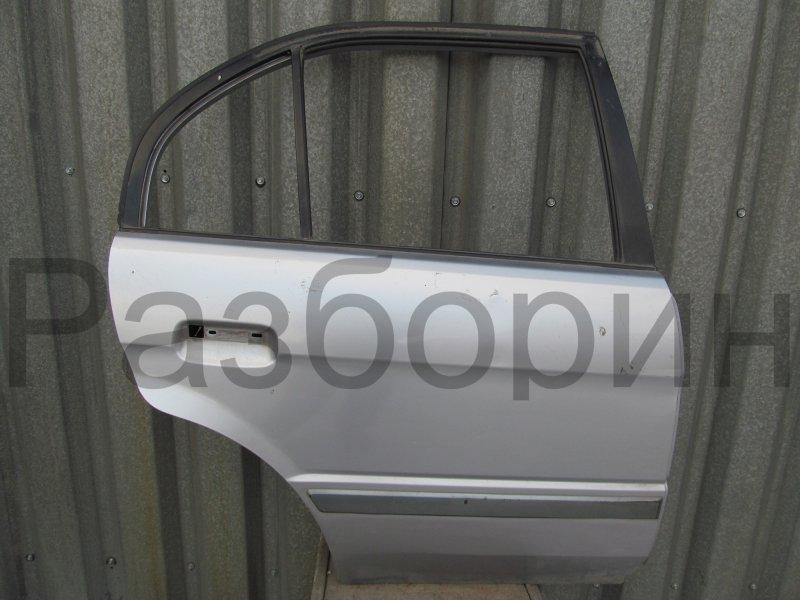 Дверь Toyota Corsa L50 EL51 4E-FE 1997 задняя правая