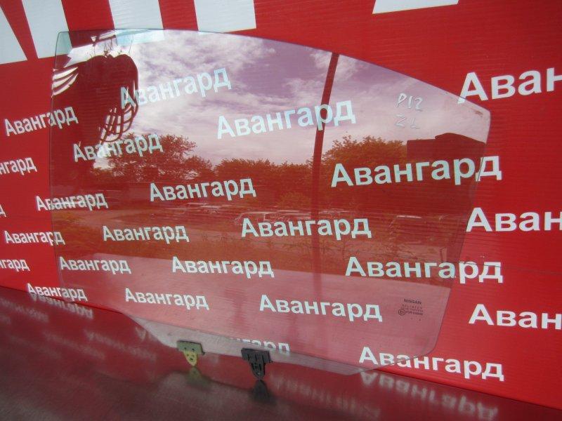 Стекло двери Nissan Primera P12 P12 заднее левое