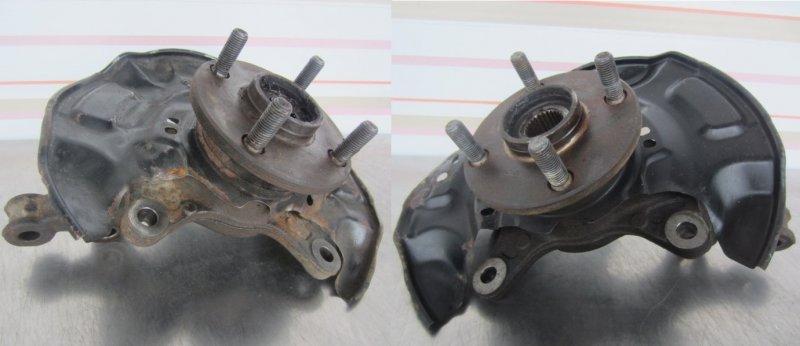 Кулак в сборе со ступицей Toyota Vitz Scp90 SCP90 1KR 2005 передний