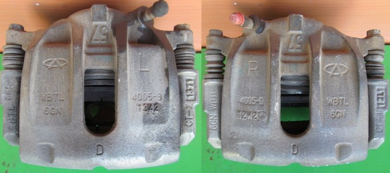 Суппорт тормозной Chery M11 2011 передний