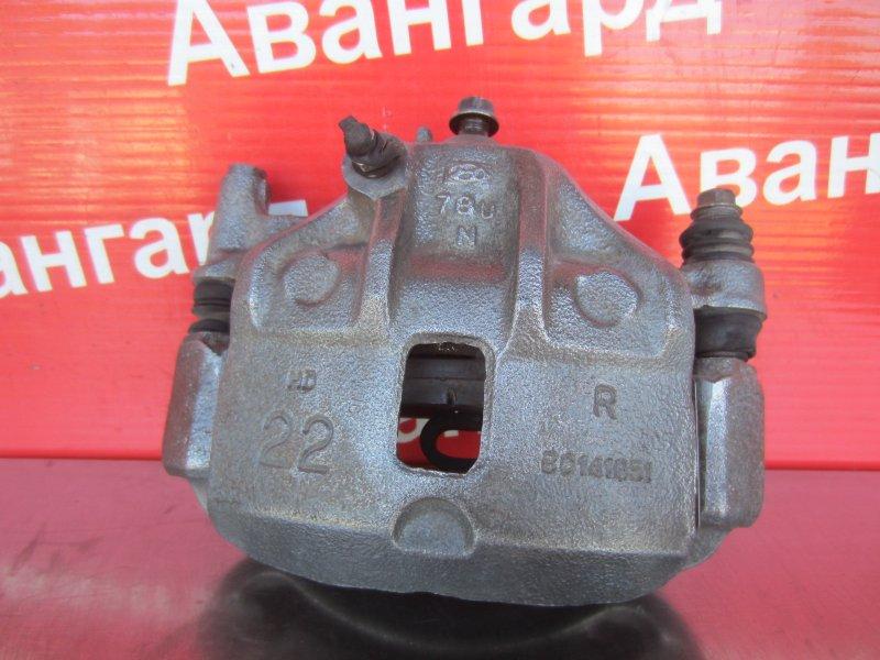 Суппорт тормозной Hyundai Accent G4EC 2007 передний правый