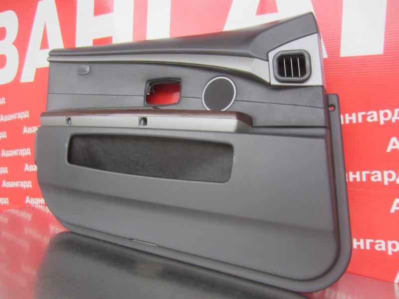 Обшивка двери Bmw E65 N62B44 2004 передняя левая