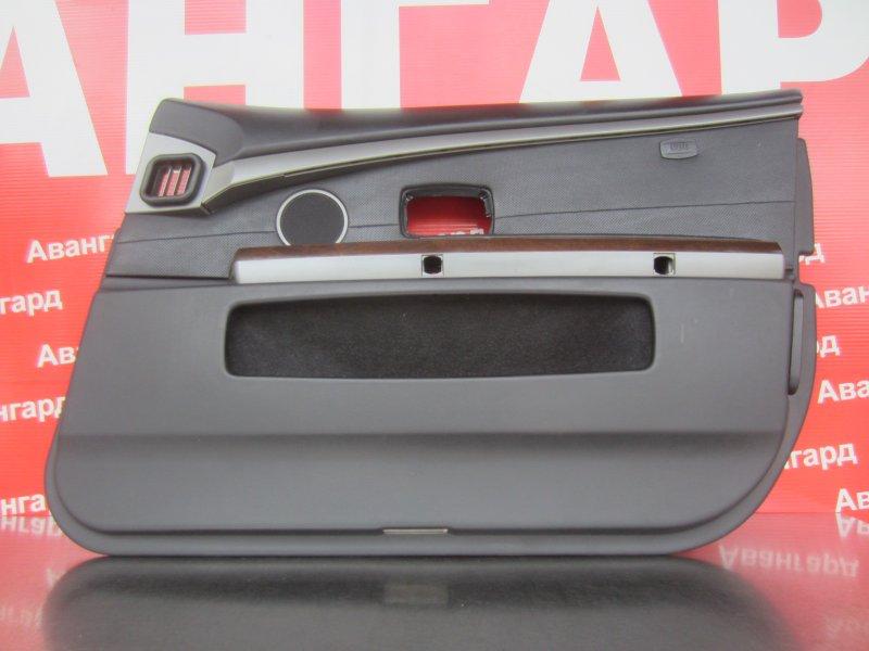 Обшивка двери Bmw E65 N62B44 2004 передняя правая