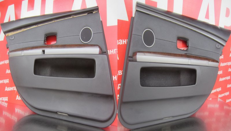 Обшивка двери Bmw E65 N62B44 2004 задняя