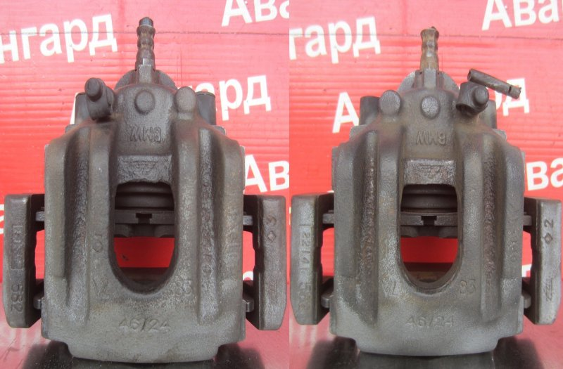 Суппорт тормозной Bmw E65 N62B44 2004 задний